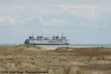The ferry to and from Texel