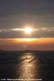 Sunrise at the mussel cultivations