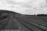 Railway in a desolate landscape