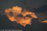 Lightened cloud in the last light...