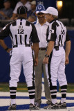 Indianapolis Colts head coach Tony Dungy with the officials