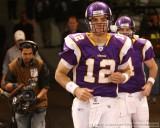 Minnesota Vikings QB Gus Frerotte with CBS camerman