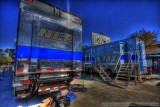 The CBS television trucks in HDR