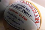 Wilt Chamberlain's 25,000th point basketball