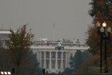 Marine One with President George W. Bush inside heading to the White House