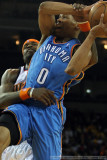 Oklahoma City Thunder's Russell Westbrook gets fouled