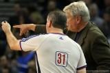 Golden State Warriors head coach Don Nelson argues a call