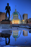 St. Louis' Old Courthouse and Arch