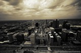 Downtown St. Louis skyline from the Arch