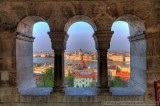 Budapest's Parliment as seen from the Fisherman's Bastion in HDR