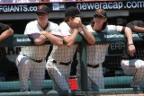 San Francisco Giants pitchers Matt Cain, Barry Zito and Tim Lincecum