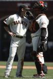 San Francisco Giants pitcher Tim Lincecum and catcher Bengie Molina
