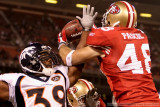 San Francisco 49ers TE Bear Pascoe comes down with the game-winning 2-point conversion
