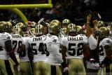 CBS cameraman John Bruno with the New Orleans Saints huddle