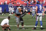 NY Giants QB David Carr with CBS cameraman John Bruno