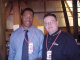 Me and NFL Hall of Famer & CBS broadcaster Marcus Allen at Super Bowl XXXV