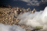 Aerial of downtown San Francisco, California