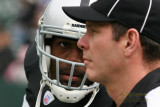Oakland Raiders WR Jerry Porter staring down a ref