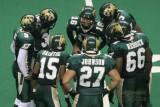 San Jose SaberCats offensive huddle