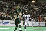 San Jose SaberCats receiver Cleannord Saintil hauls in a touchdown