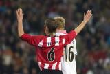 Kay Velda puts his hands up for Stefan Nijland