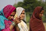 Praying women, Lumbini