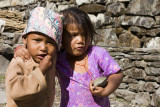 Children in the Himalayas