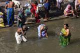 Bathing in the Bagmati river