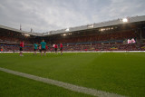 Warming up in the Philips Stadium