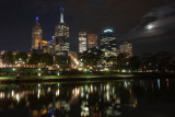 Melbourne with Yarra River at night