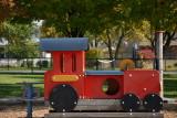 train car at the park