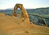 Delicate Arch with a person