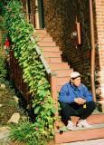 Man Smoking, Girl Watching