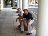 Tim and Dan downtown - September 2009