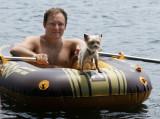 At the lake with Dan