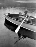 Mike and Paul rowing