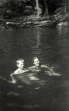 Paul and Zuie swimming