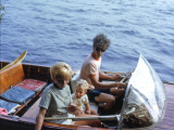 Mike in the old wood boat 1969