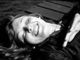Heather sunning on dock late seventies