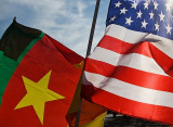 Cameroonian and US Flags, Fifa WC 2010