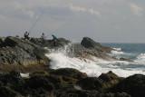 Fishermen at Siaoyeliou National Reserve
