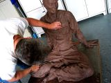 mike working on the uncle :: clay