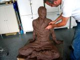 mike working on the uncle, 2 :: clay