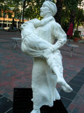 father & son, side :: salt (occidental square, seattle)