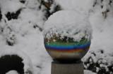 Wintery Gazing Ball