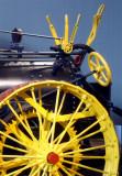 Yellow on Black Steam Engine