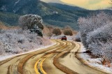 Snow, Taos, New Mexico, USA