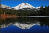 Lassen Peak from Manzanita Lake, California