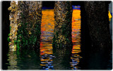 Pilings and Reflections, Monterey