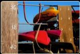 Stacked Kayaks, Tomales Bay